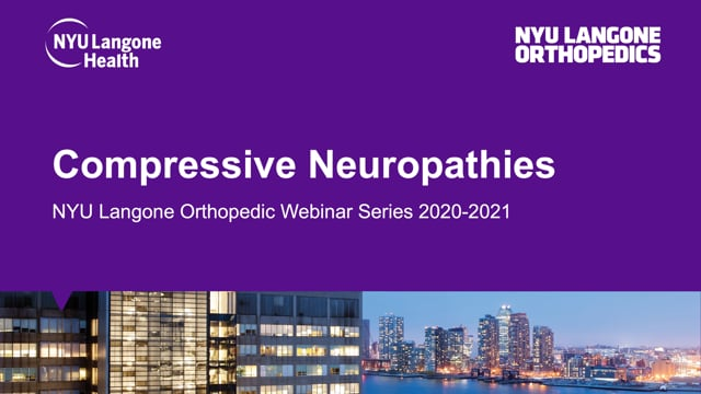 Compressive Neuropathies of the Upper Extremity