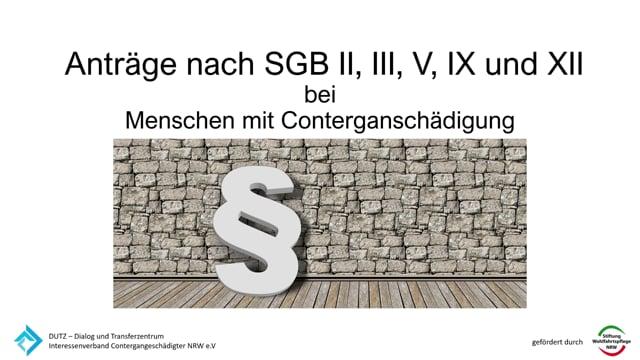 Antraege nach SGB II, III,V IX und XII