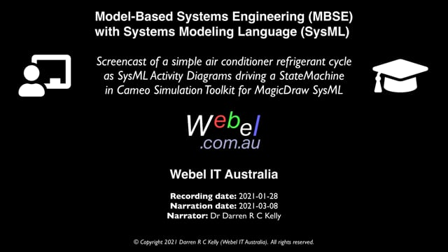 SysML/MBSE: An air conditioner refrigerant cycle in Cameo Simulation Toolkit