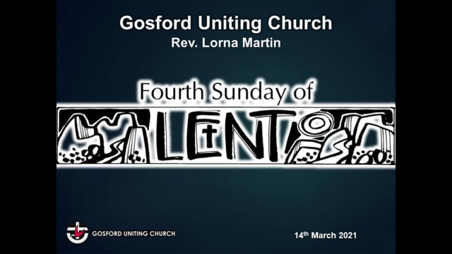 14th March 2021 - Rev Lorna Martin