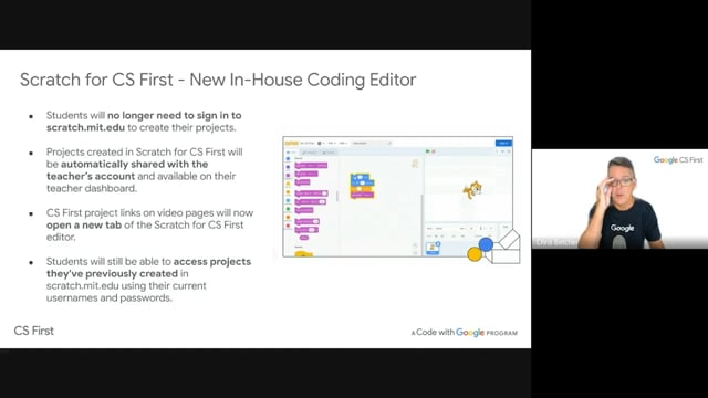 Google: What's new with CS first