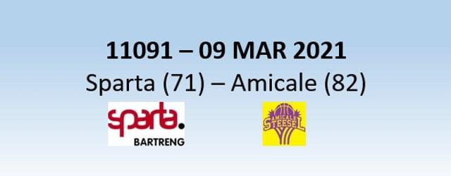 N1H  11091 Sparta Bertrange (71) - Amicale Steinsel (82) 09/03/2021