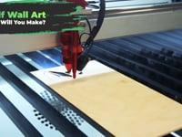 Making Wolf Wall Art On A Laser Cutter