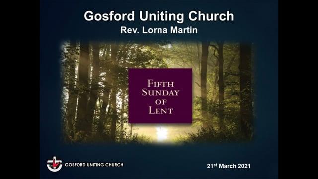 21st March 2021 - Rev Lorna Martin