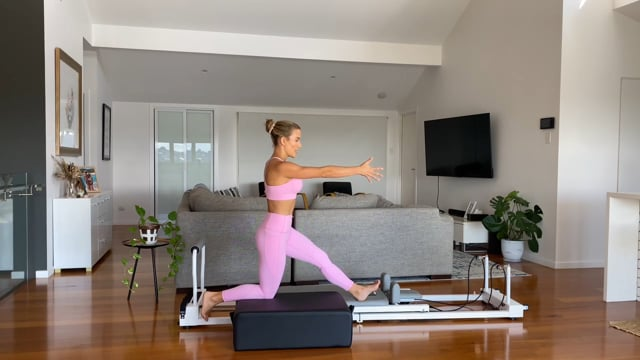 40min full body reformer workout using the box