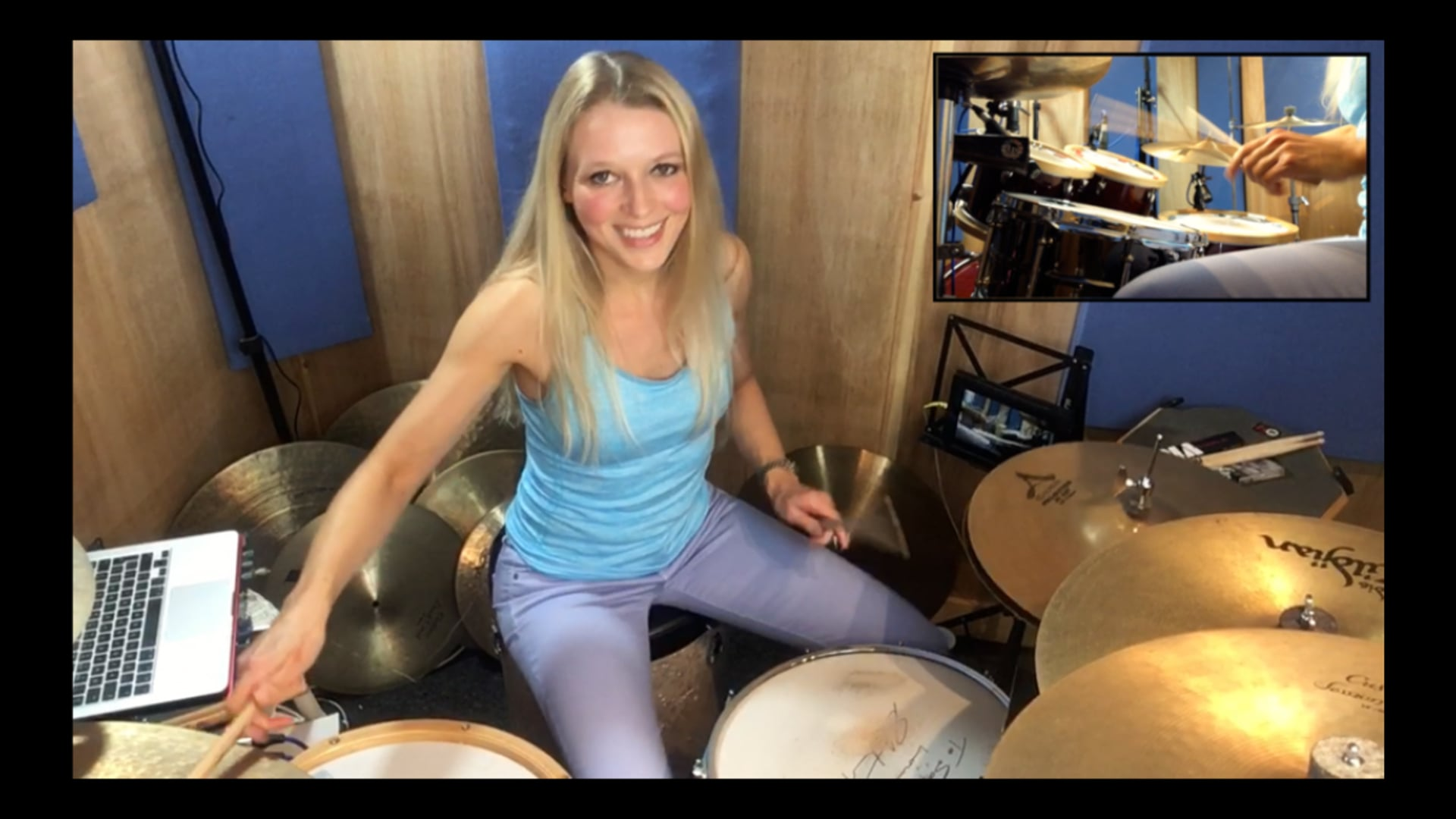 """""""Show Me What You Got""""... well, ok! Sophie Alloway drumming."""