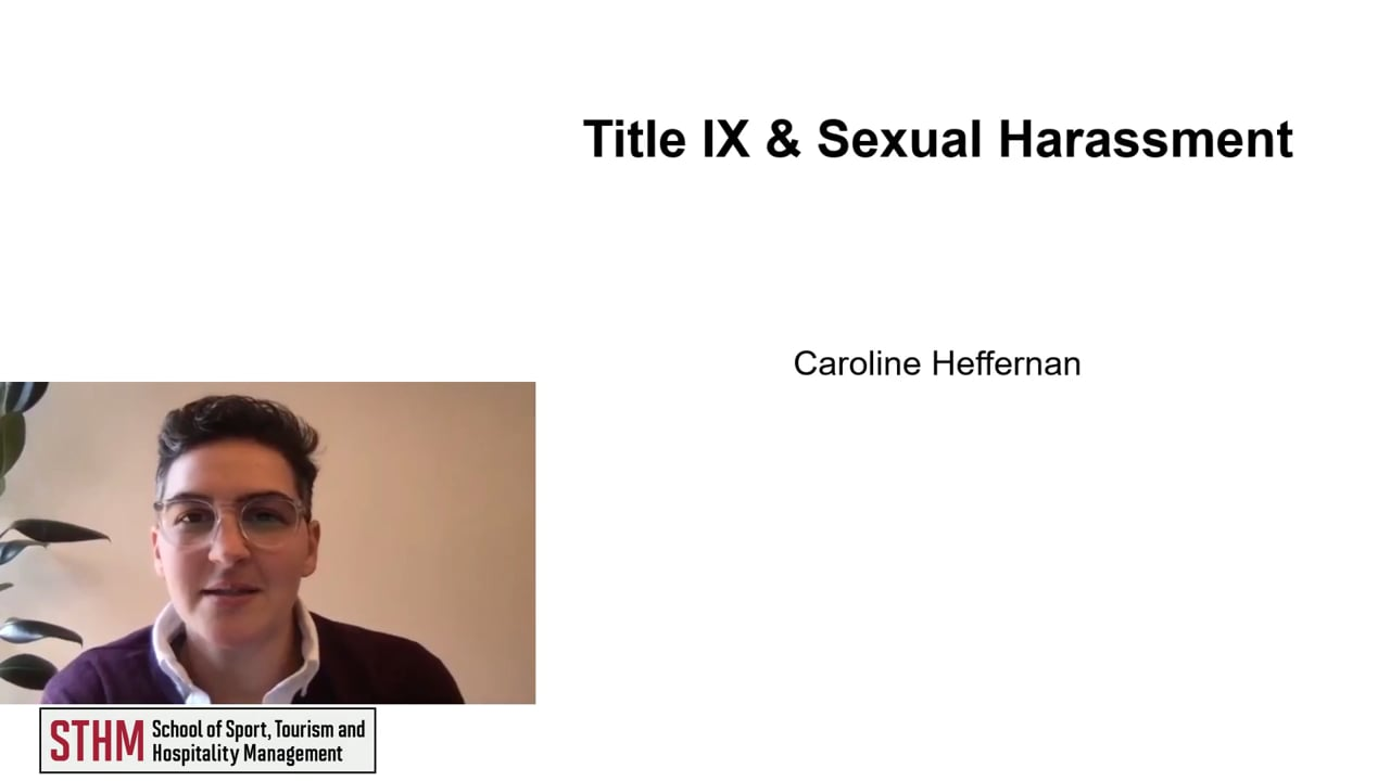 62003Title IX and Sexual Harassment