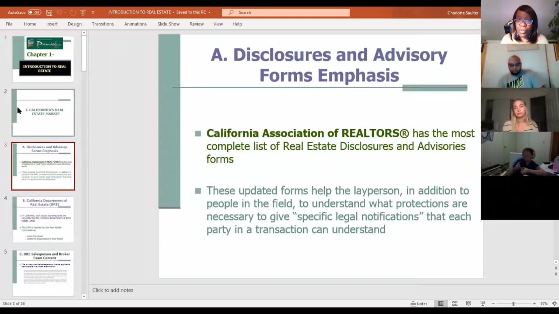 Introduction to Real Estate by Charlotte Saulter