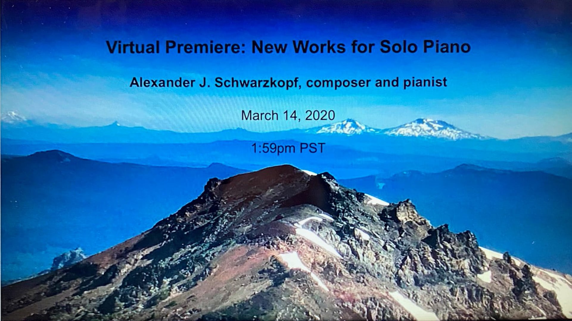 Alexander Schwarzkopf: Musical Reflections during Pandemic