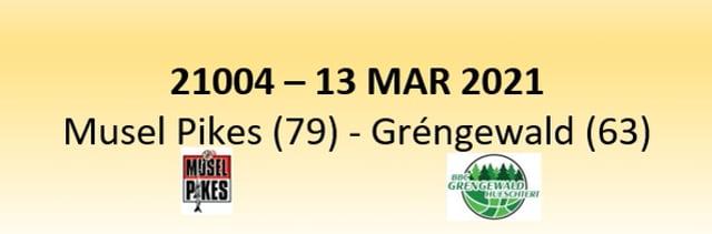 N1D 21004 Musel Pikes (79) - Gréngewald Hueschtert (63) 13/03/2021
