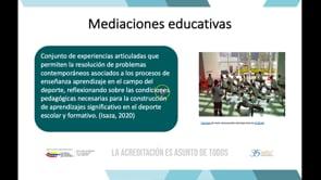 Mediaciones educativas de un grupo de docentes de una institución universitaria con énfasis en deporte en la ciudad de Cali, Colombia.