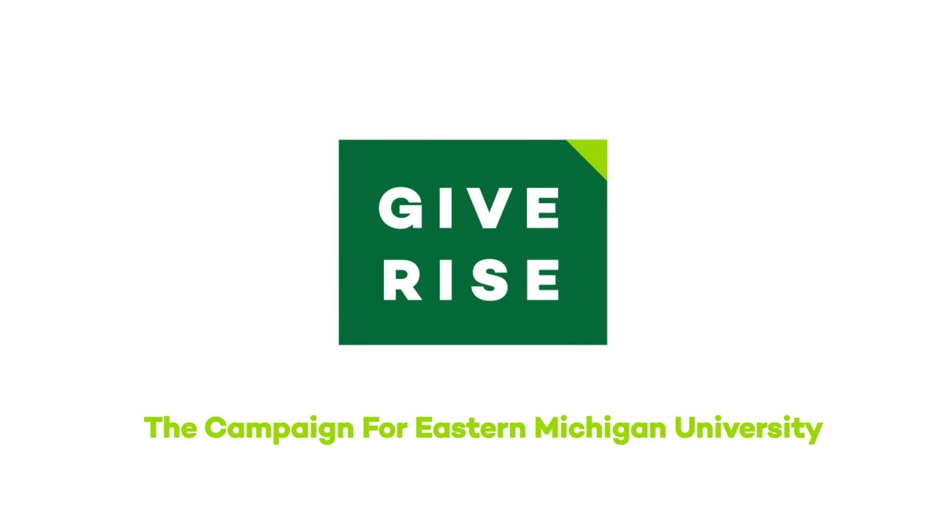 Eastern Michigan University   Give Rise