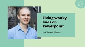 Powerpoint: Fix Wonky Lines