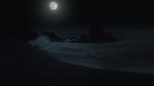 The Night Beauty of Icelandic Coastline. Nighttime Video for Sleep 4K HDR. Part 2