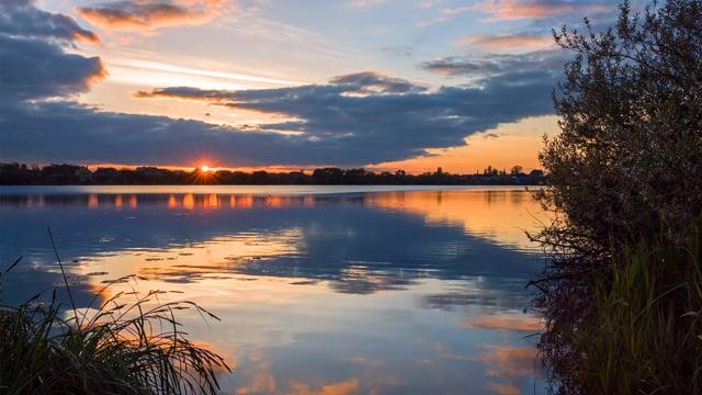 Sunset over the Lake, Basiv Kut Lake, Rivne - 4K HDR