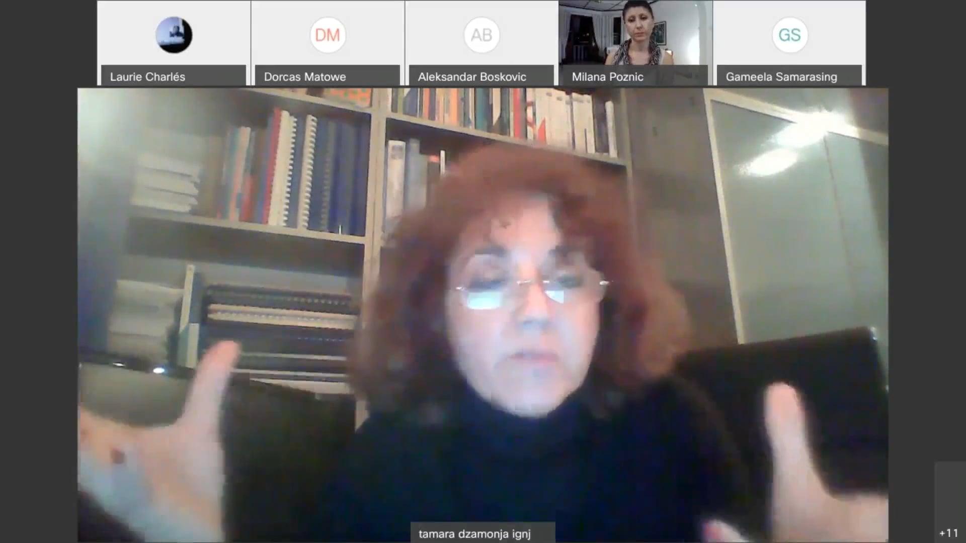Panel XI of Global Family Systems & Psychosocial Resilience, January 17th 2021, with Dr. Tamara Džamonja Ignjatović