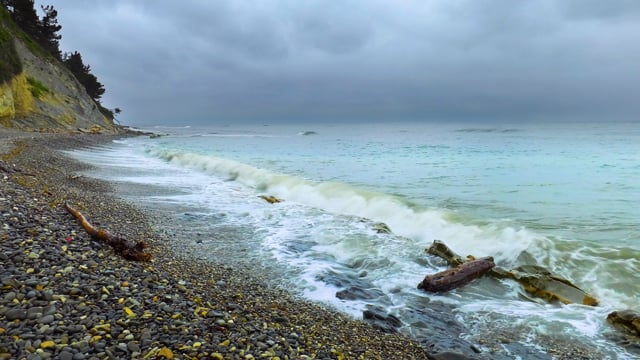 Storm on the Black Sea - 4K Nature Relax Video HDR