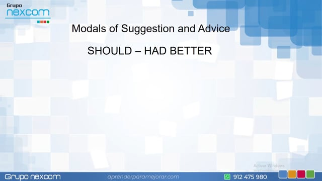 IN0101 - Should_Had-better