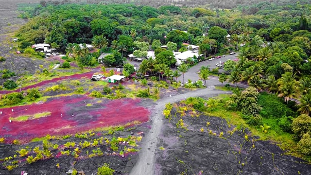 Bird's Eye View of the Big Island, Hawaii, Incredible Lava Fields - Short Version with Music