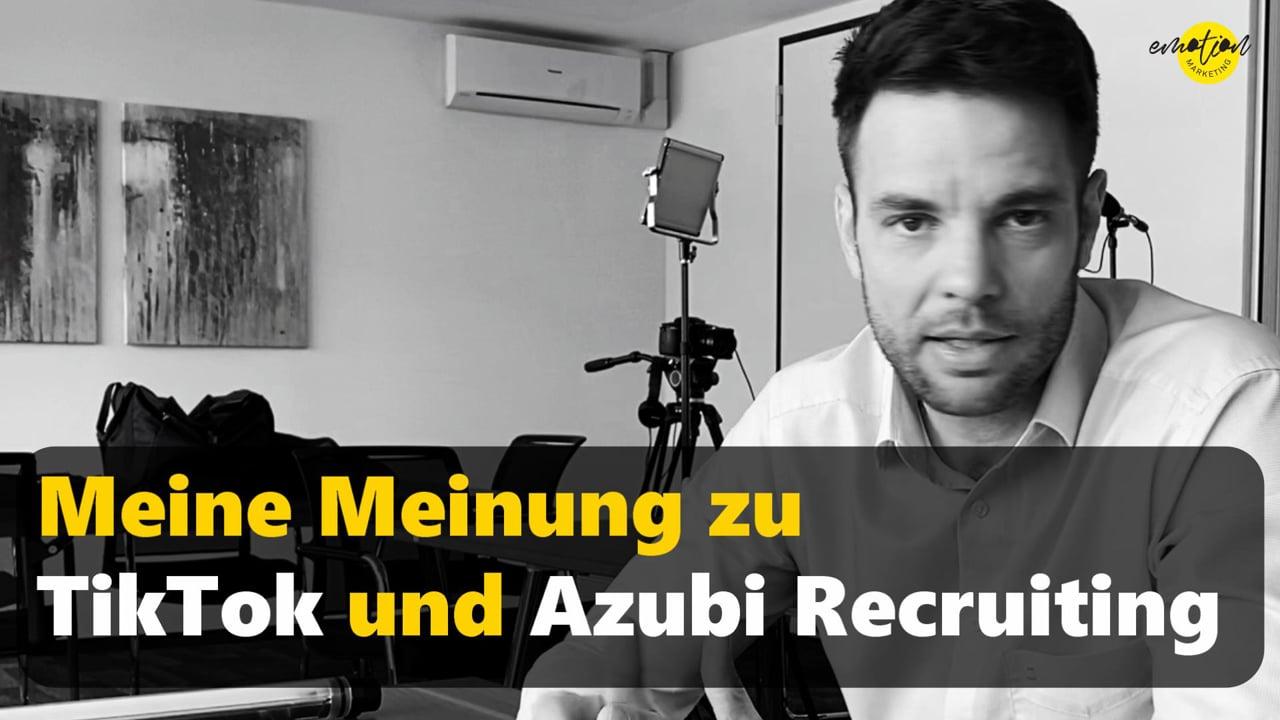 JA KLAR MITMACHEN!!! Meinung zu TikTok in Bezug auf Azubi-Recruiting.