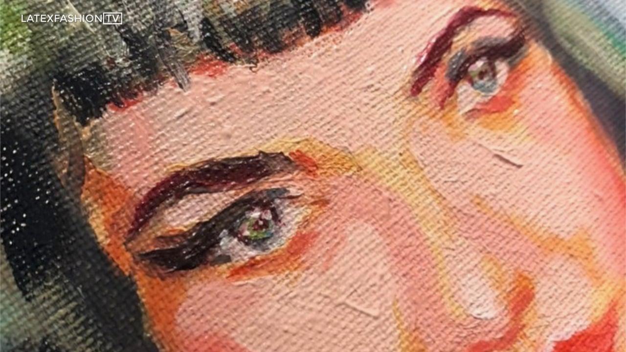 Time Lapse Oil Painting | LatexFashionTV