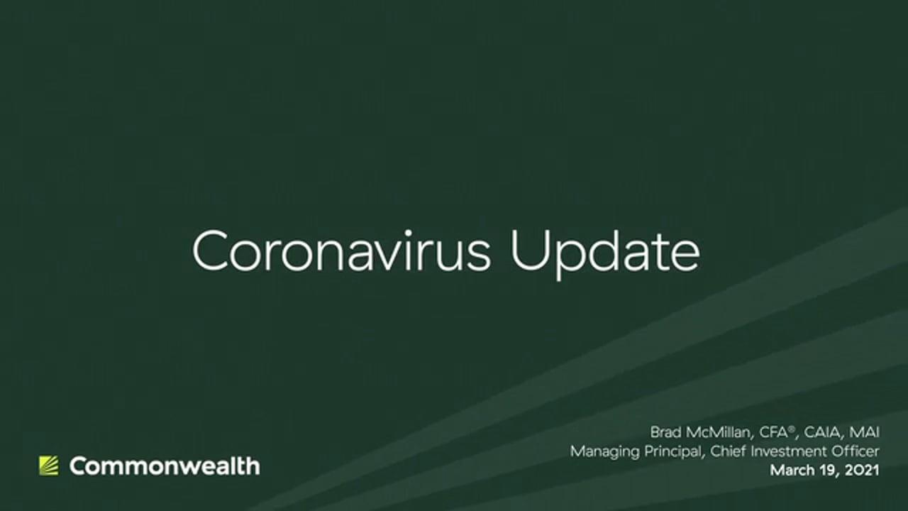 Coronavirus Update from Commonwealth CIO Brad McMillan, March 19, 2021