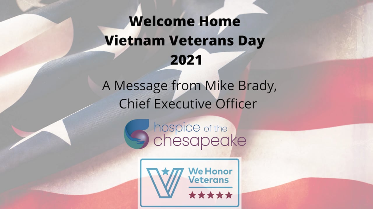 Message from our CEO on Welcome Home Vietnam Veterans Day 2021