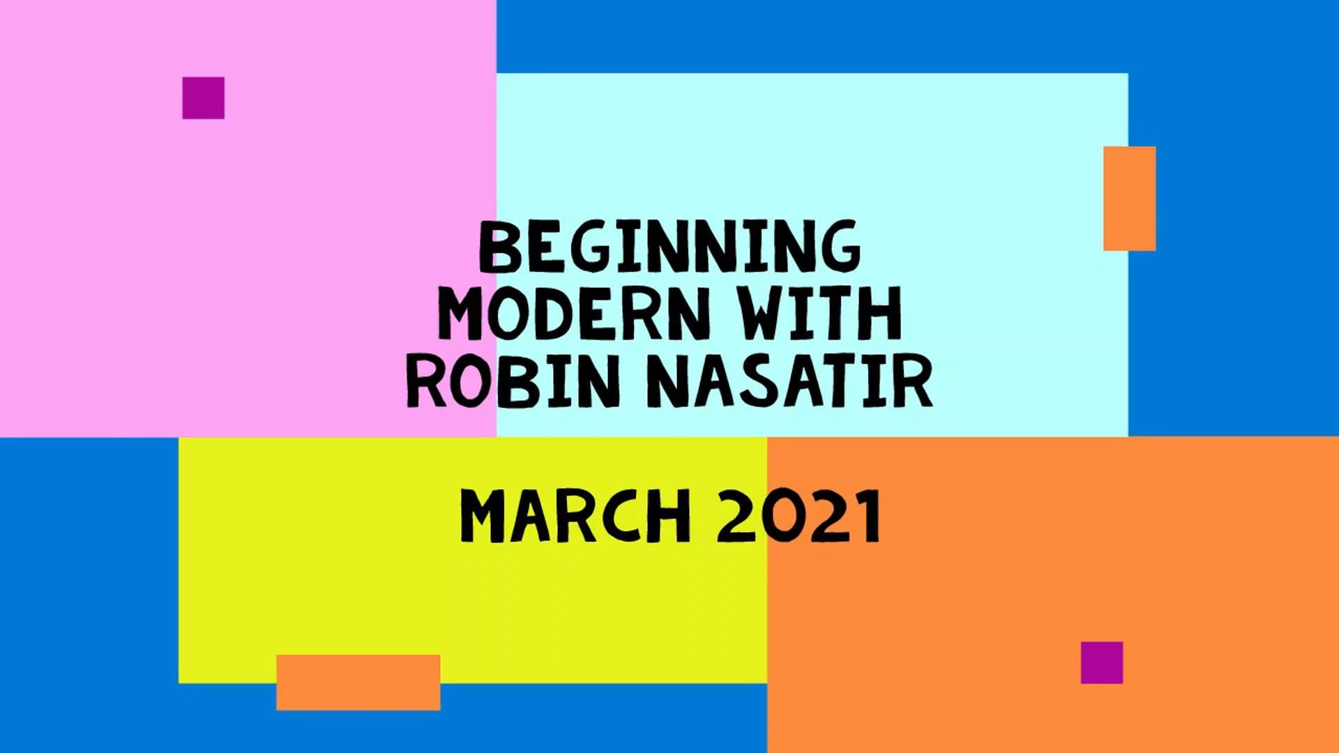 March 2021 Beginning Modern Dance for 50+