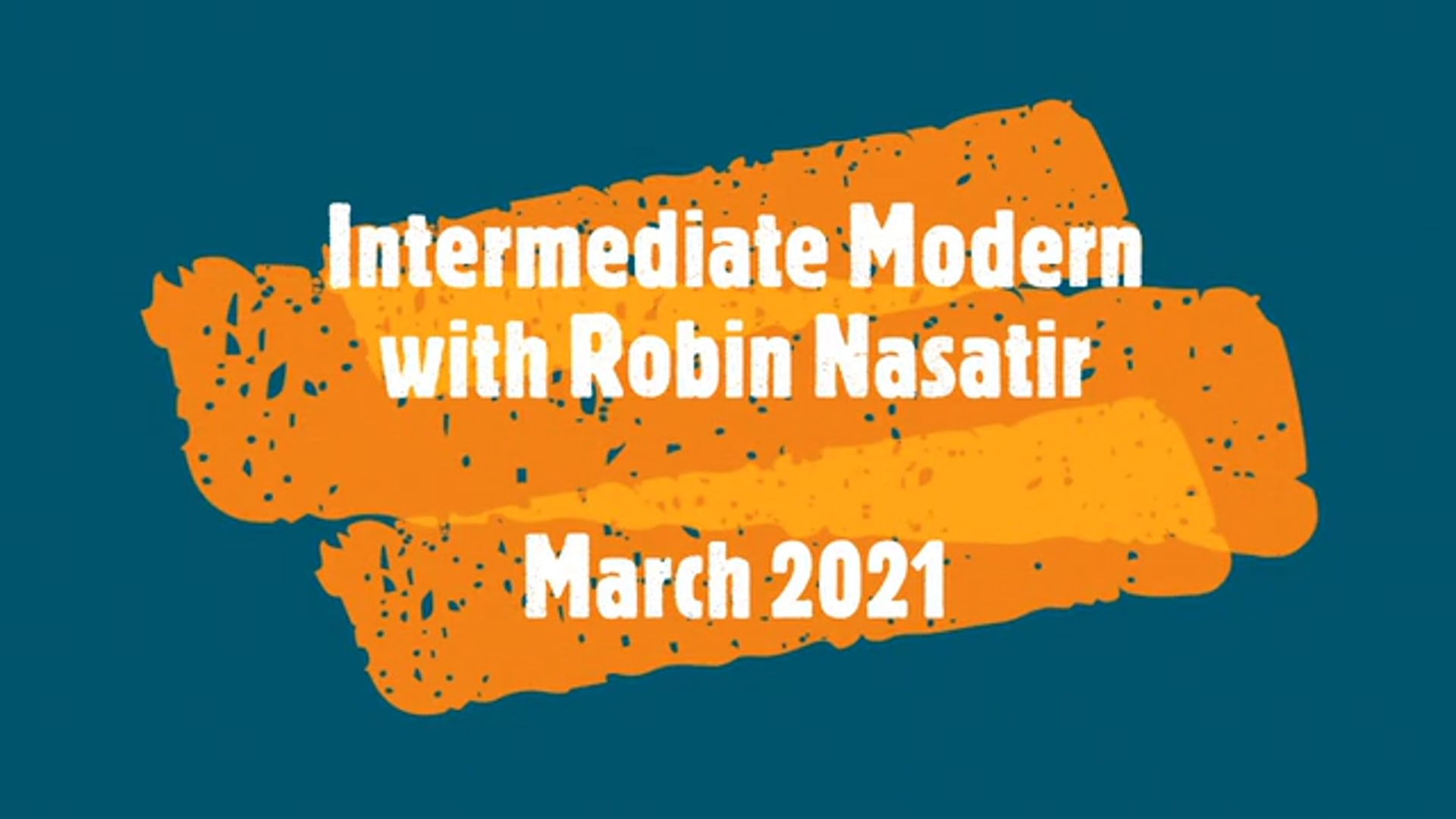 March 2021 Intermediate Modern Dance for 50+