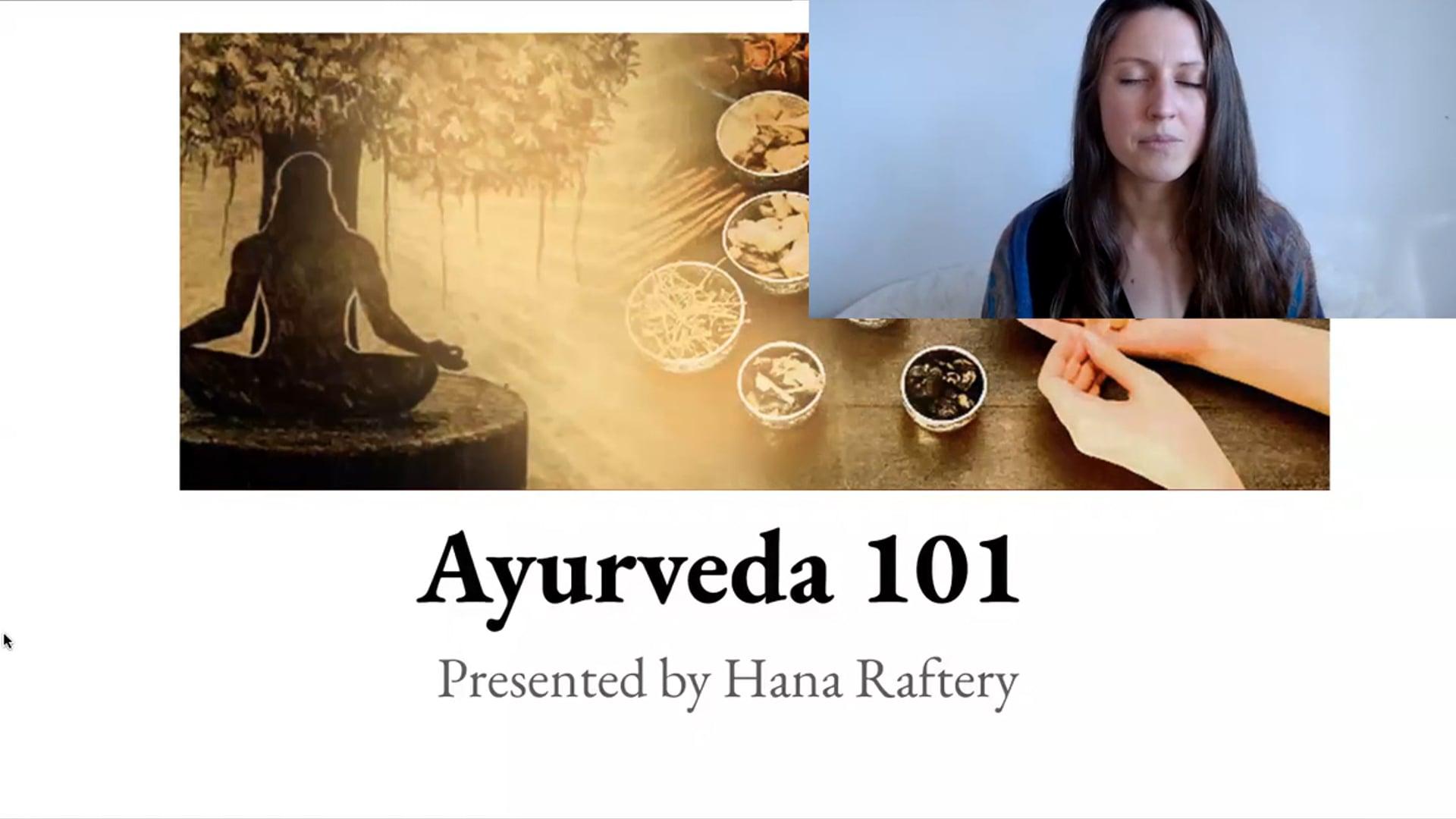 "60 min ""Ayurveda 101"" Lecture Workshop"