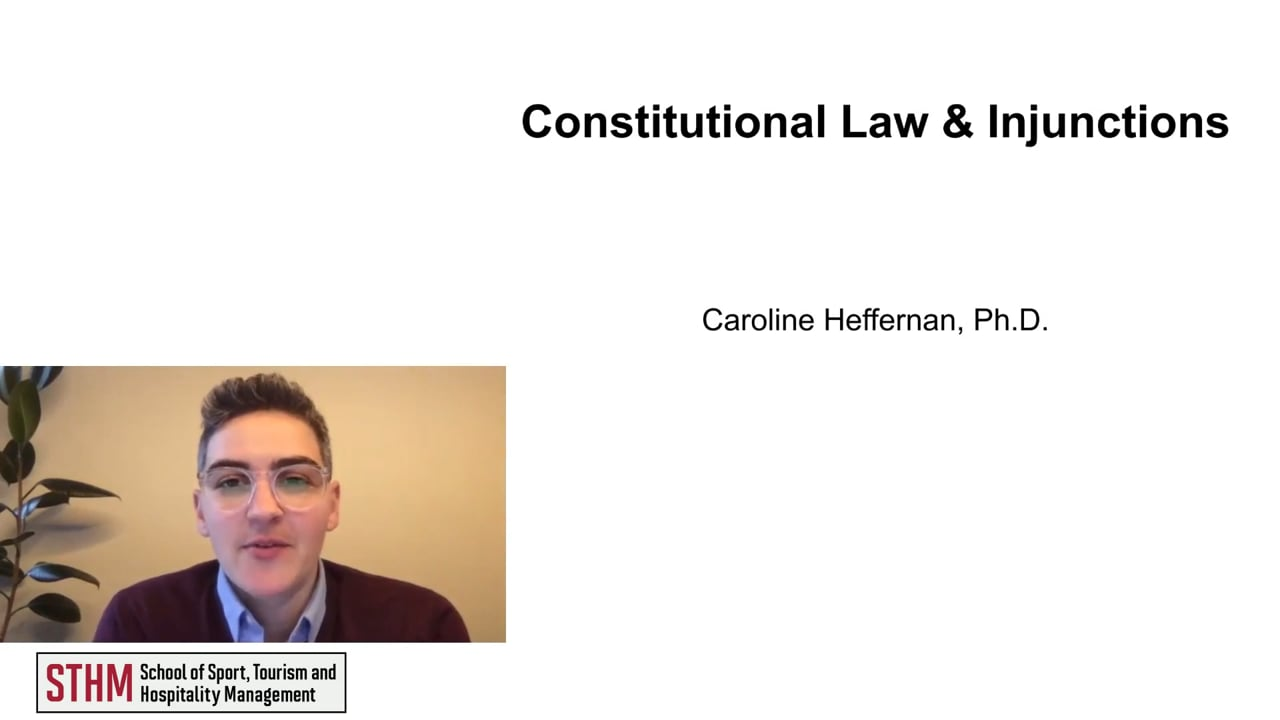 62013Constitutional Law & Injunctions