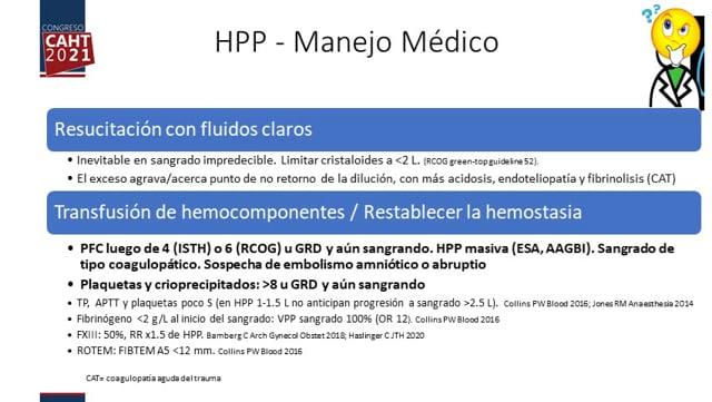 Actualización aspectos hematológicos de la hemorragia post-parto - Dr Carlos Fondevila