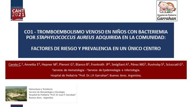 CO1 - TEV en niños previamente sanos con BSA-AC - Dra Carolina Cervio