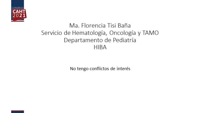 Manejo perioperatorio en coagulopatías - Comentarios - Dra Florencia Tisi Baña