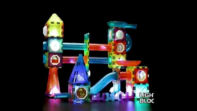 Light Magnetic blocks kid...