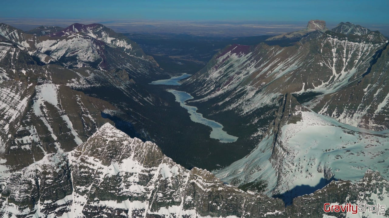 Glacier National Park aerial video 3.14.2021