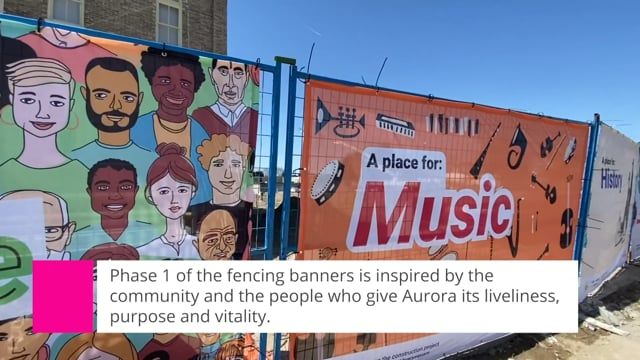 Installation of fencing banners around 22 Church Street