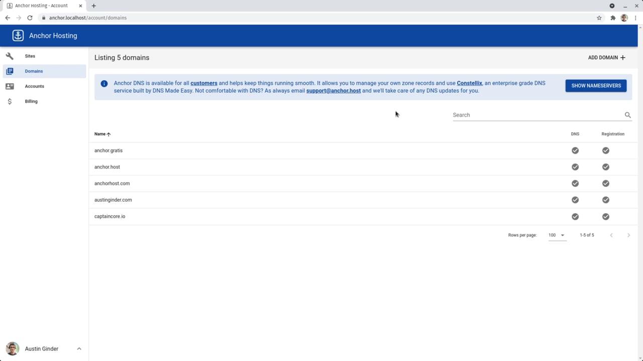 Quick look at domain controls