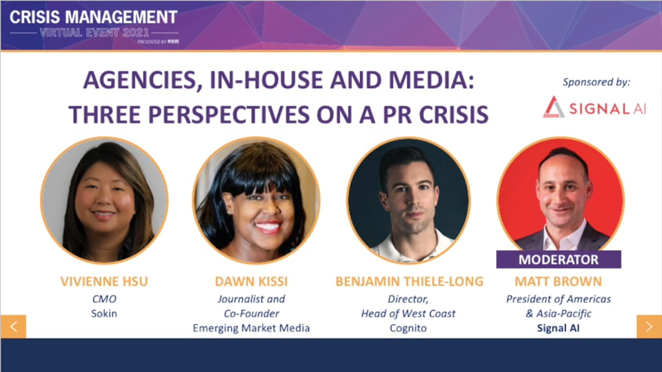Agencies, In-house and Media: Three Perspectives on a PR Crisis
