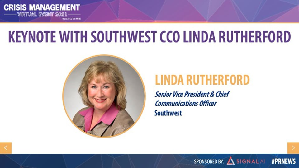 Keynote with Southwest CCO Linda Rutherford