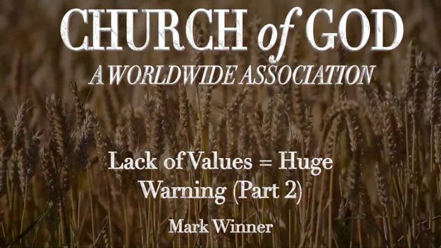 Lack of Values = Huge Warning (Part 2)