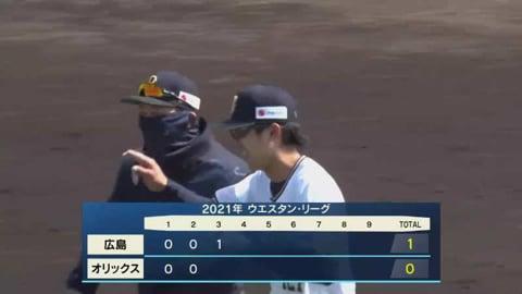 【ファーム】バファローズ・田城 好返球で追加点を阻止!! 2021/3/26 B-C(ファーム)