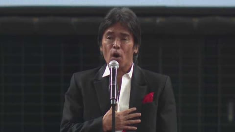 松崎しげるさんが国歌独唱 2021/3/26 L-B