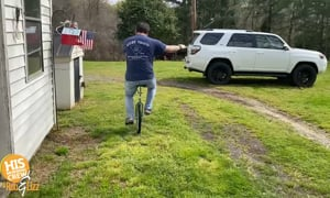 TJ Can Unicycle, and Here's Proof!