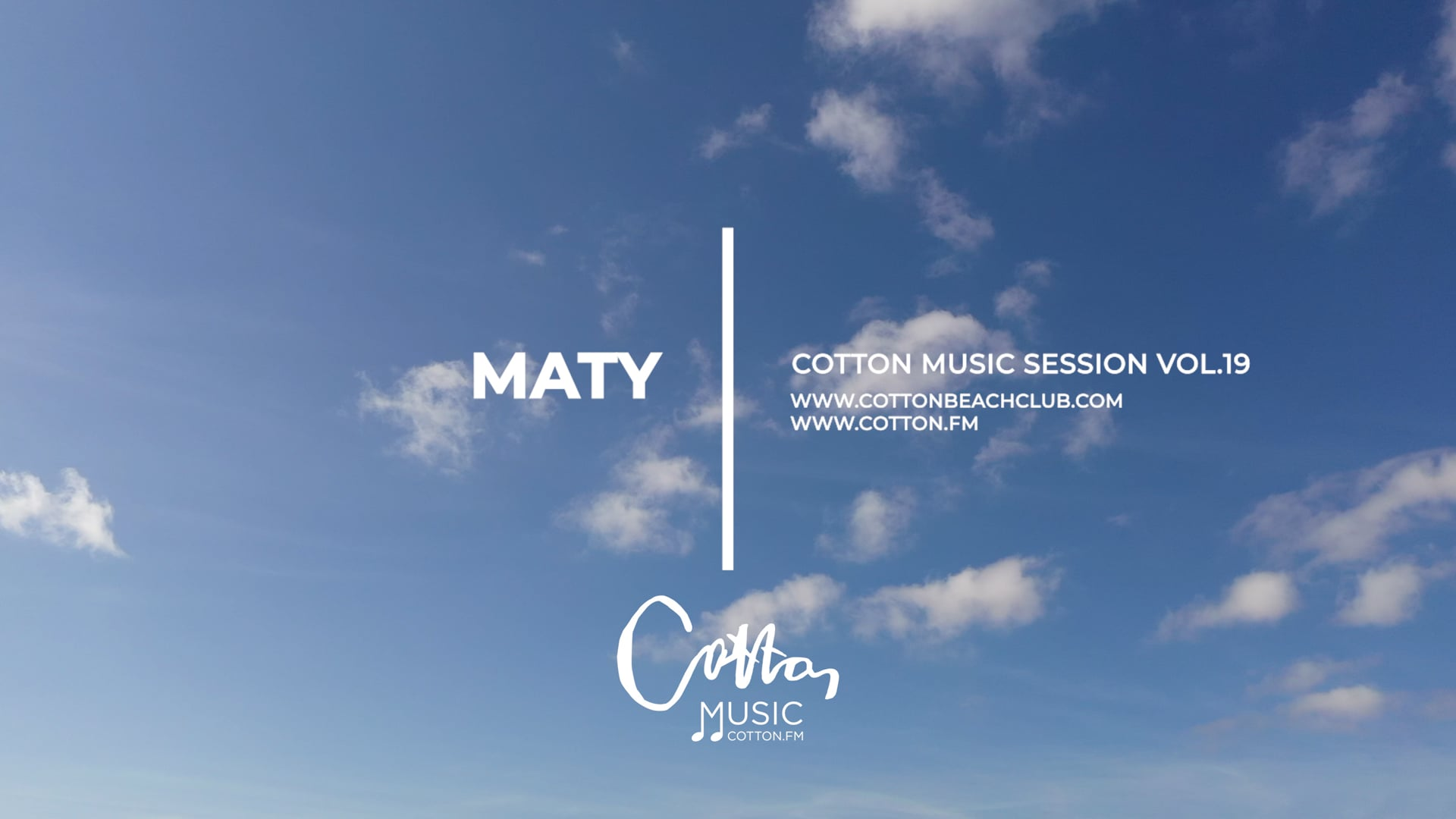 Cotton Music Vol.19 | SESSION BY MATY