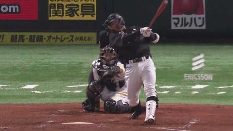 【4回表】マリーンズ・中村 今季初本塁打は左中間ホームランテラスに飛び込む一発!! 2021/3/28 H-M