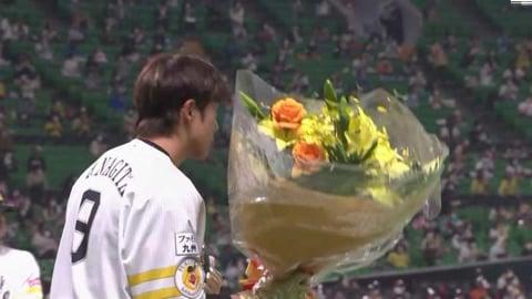 【5回裏】ホークス・柳田がプロ通算1000試合出場を達成!! 2021/3/28 H-M