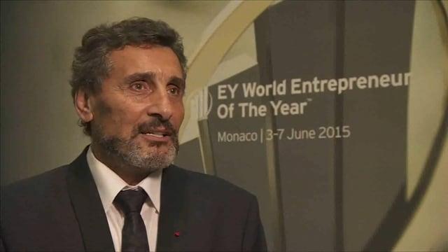 Flashback : Mohed Altrad nommé Entrepreneur Mondial de l'Année 2015 par EY