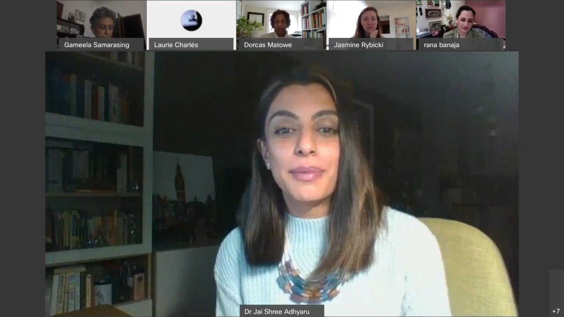 Panel XII of Global Family Systems & Psychosocial Resilience, January 31st 2021 w/ Dr Rana Banaja and Dr Jai Shree Adhyaru