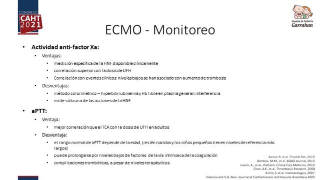 Oxigenación por membrana extracorpórea (ECMO) y dispositivo de asistencia ventricular (VAD) - Dra Carolina Cervio
